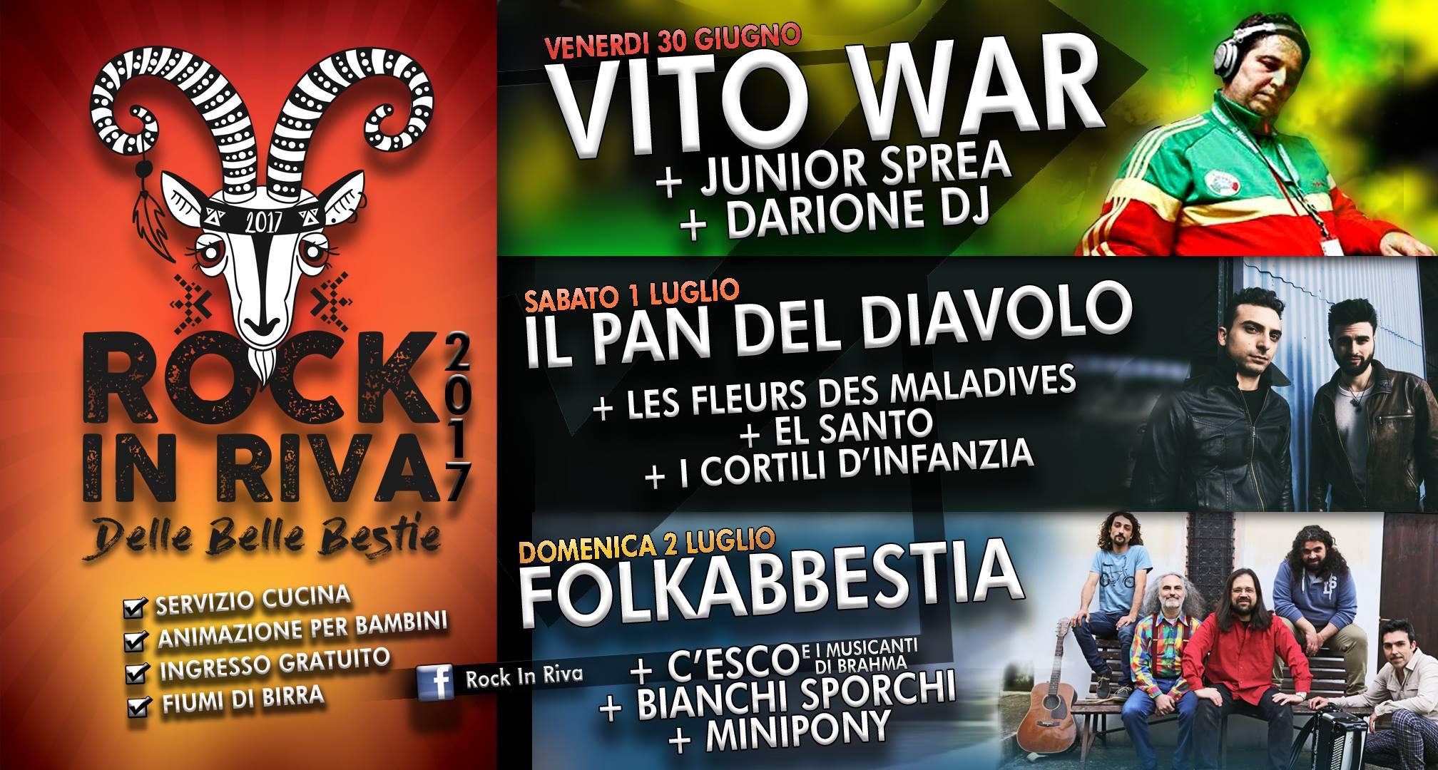 Rock in Riva 2017 - Programma